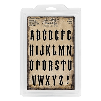 Tim Holtz Idea-ology GOTHIC Cling Foam Stamps TH93618