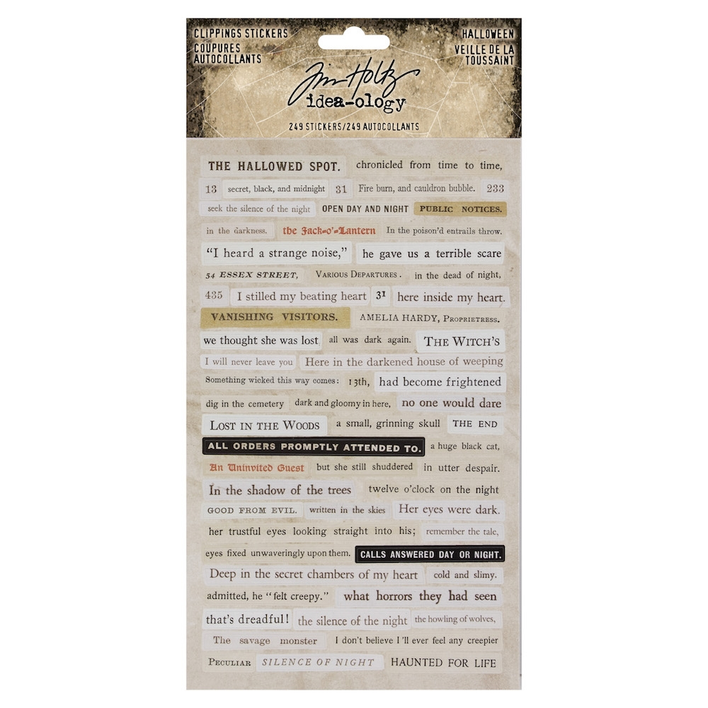 Tim Holtz Idea-ology HALLOWEEN Clippings Stickers Paperie th93719 zoom image