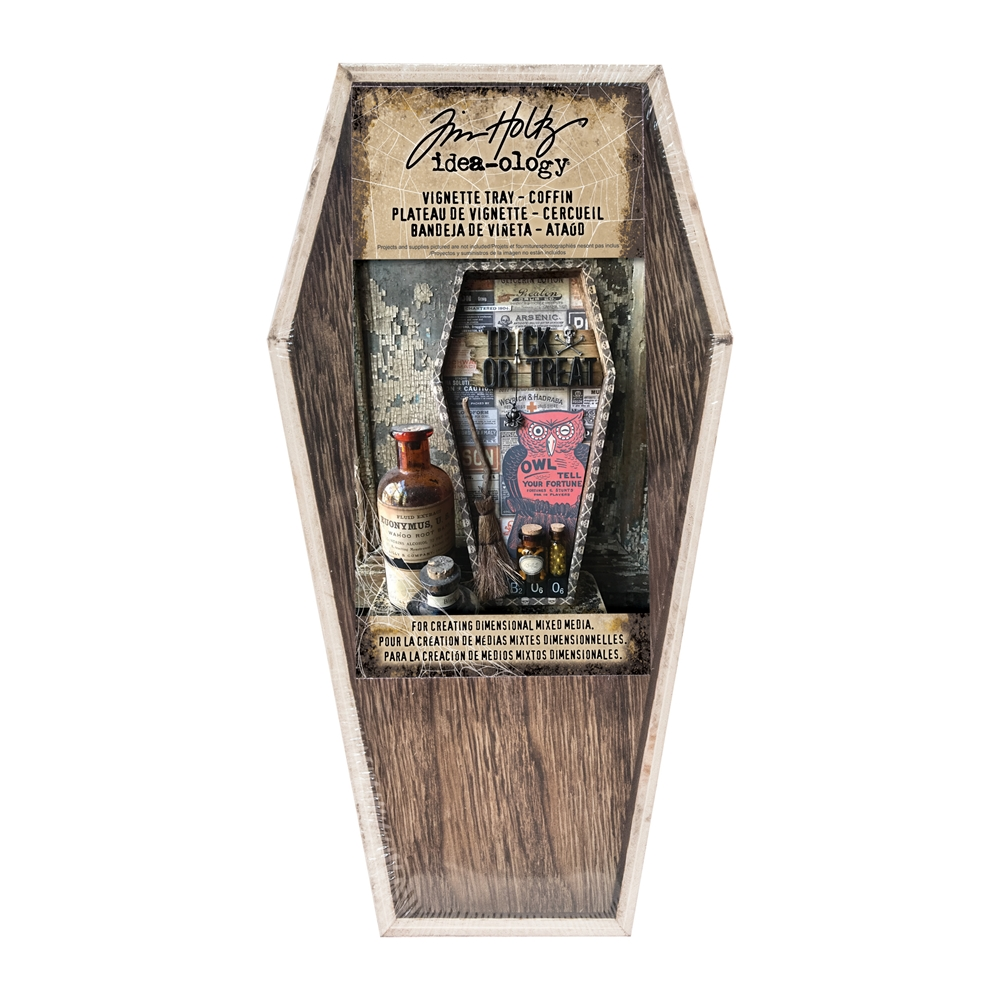 Tim Holtz Idea-ology VIGNETTE TRAY COFFIN TH93621 zoom image