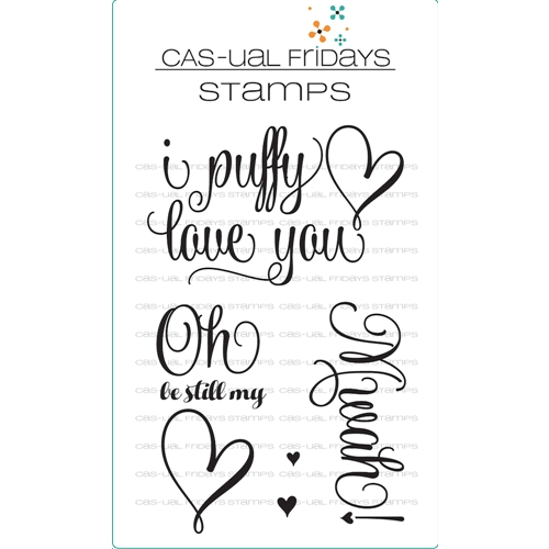 Cas-ual Fridays PUFFY HEART Clear Stamps CFS1718 Preview Image