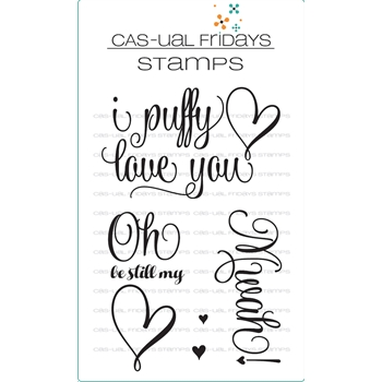 Cas-ual Fridays PUFFY HEART Clear Stamps CFS1718