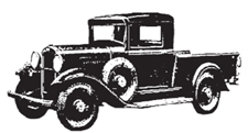 Tim Holtz Rubber Stamp OLD TRUCK Car Stampers Anonymous K5-1286