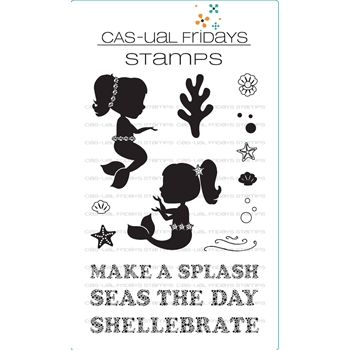 Cas-ual Fridays MERMAIDS Clear Stamps CFS1717