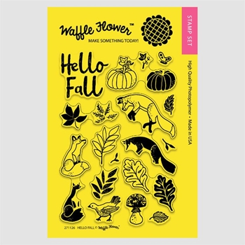 Waffle Flower HELLO FALL Clear Stamp Set 271126