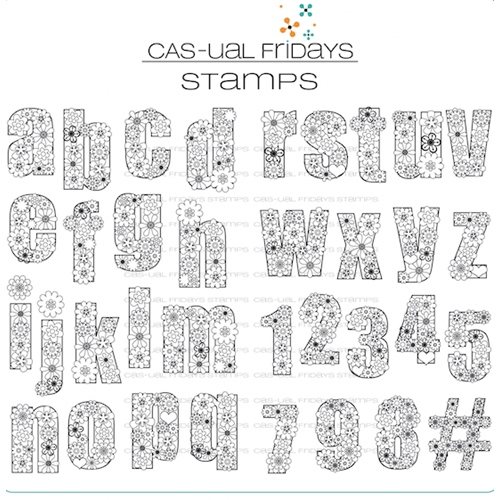 Cas-ual Fridays FLOWER-CASE Clear Stamps CFS1715 Preview Image