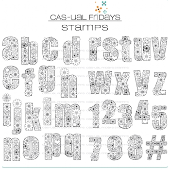 Cas-ual Fridays FLOWER-CASE Clear Stamps CFS1715