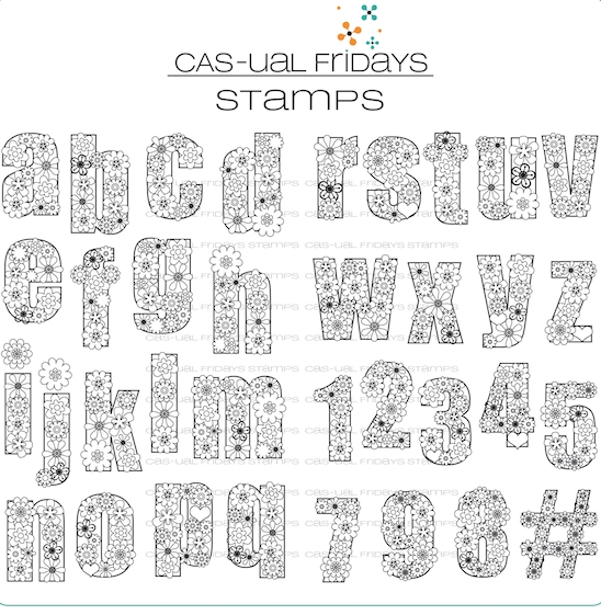 Cas-ual Fridays FLOWER-CASE Clear Stamps CFS1715 zoom image