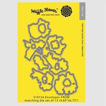 Waffle Flower ENVELOPER FROM Die Set 310154