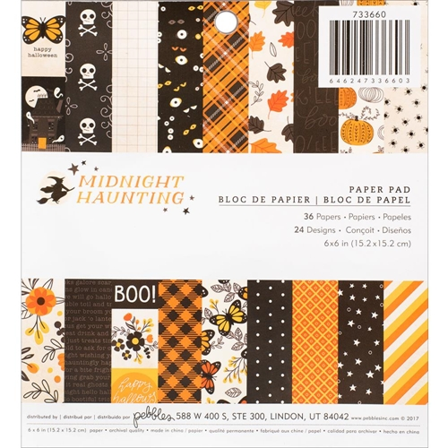 Pebbles Inc. MIDNIGHT HAUNTING 6x6 Inch Paper Pad 733660 Preview Image