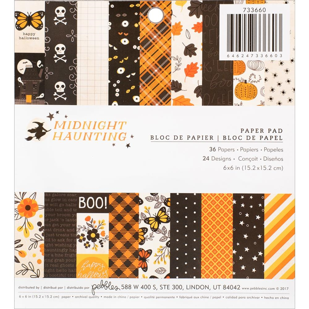 Pebbles Inc. MIDNIGHT HAUNTING 6x6 Inch Paper Pad 733660 zoom image