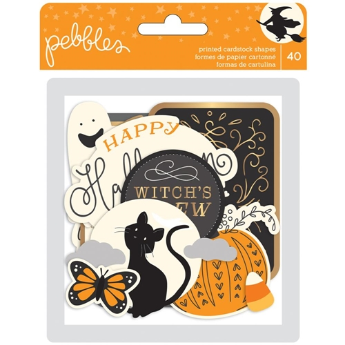 Pebbles Inc. MIDNIGHT HAUNTING EPHEMERA Printed Cardstock Shapes 733654* Preview Image