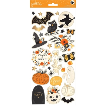 Pebbles Inc. CARDSTOCK STICKERS Midnight Haunting 733653