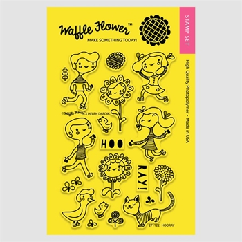 Waffle Flower HOORAY Clear Stamp Set 271122