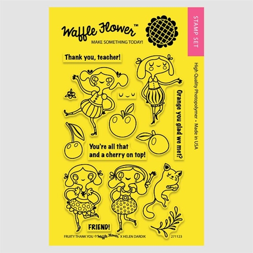 Waffle Flower FRUITY THANK YOU Clear Stamp Set 271123 Preview Image
