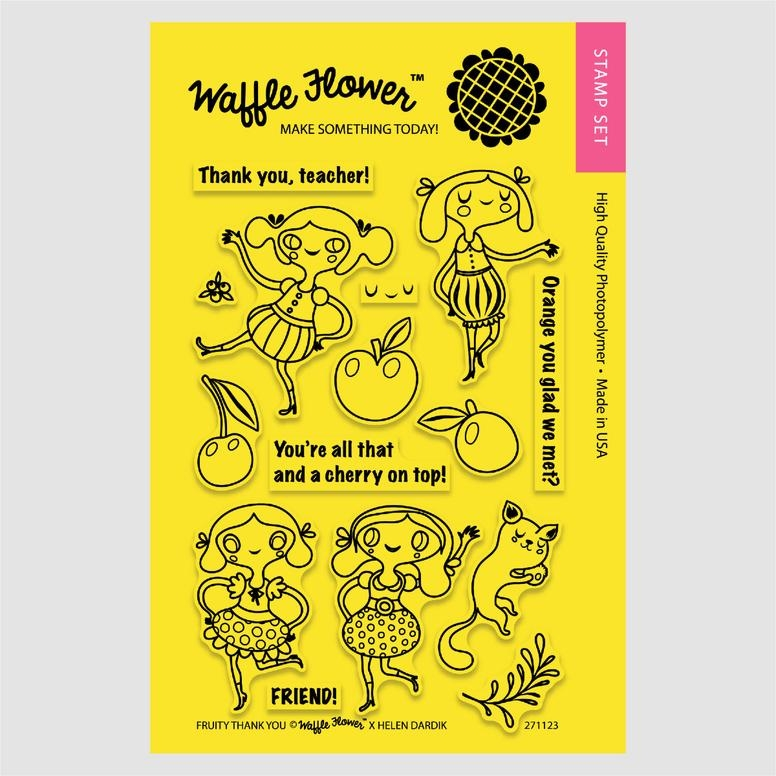 Waffle Flower FRUITY THANK YOU Clear Stamp Set 271123 zoom image