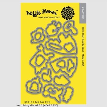 Waffle Flower TEA FOR TWO Die Set 310151
