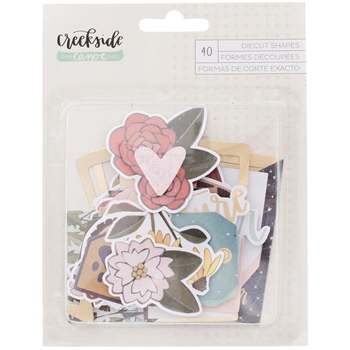 American Crafts CREEKSIDE EPHEMERA Die Cut Shapes 320679 One Canoe Two