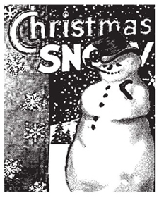 Tim Holtz Rubber Stamp THE SNOWMAN P1-1189 Christmas Stampers Anonymous zoom image