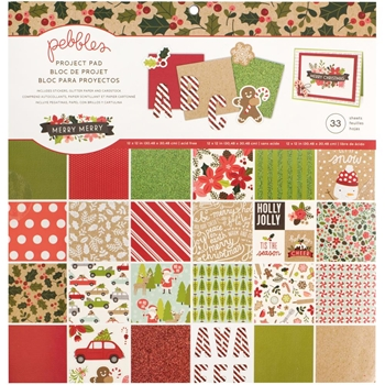 Pebbles Inc. PROJECT PAD 12x12 Inches Merry Merry 733567