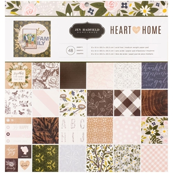 Pebbles Inc. Jen Hadfield 12x12 HEART OF HOME Paper Pad 733772