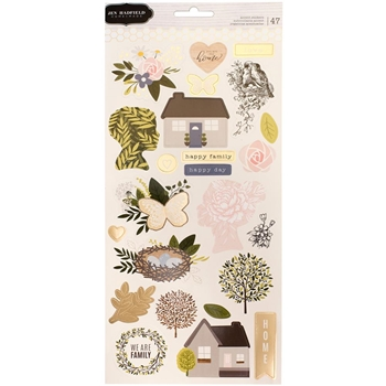 Pebbles Inc. Jen Hadfield ACCENT STICKERS Heart of Home 733770