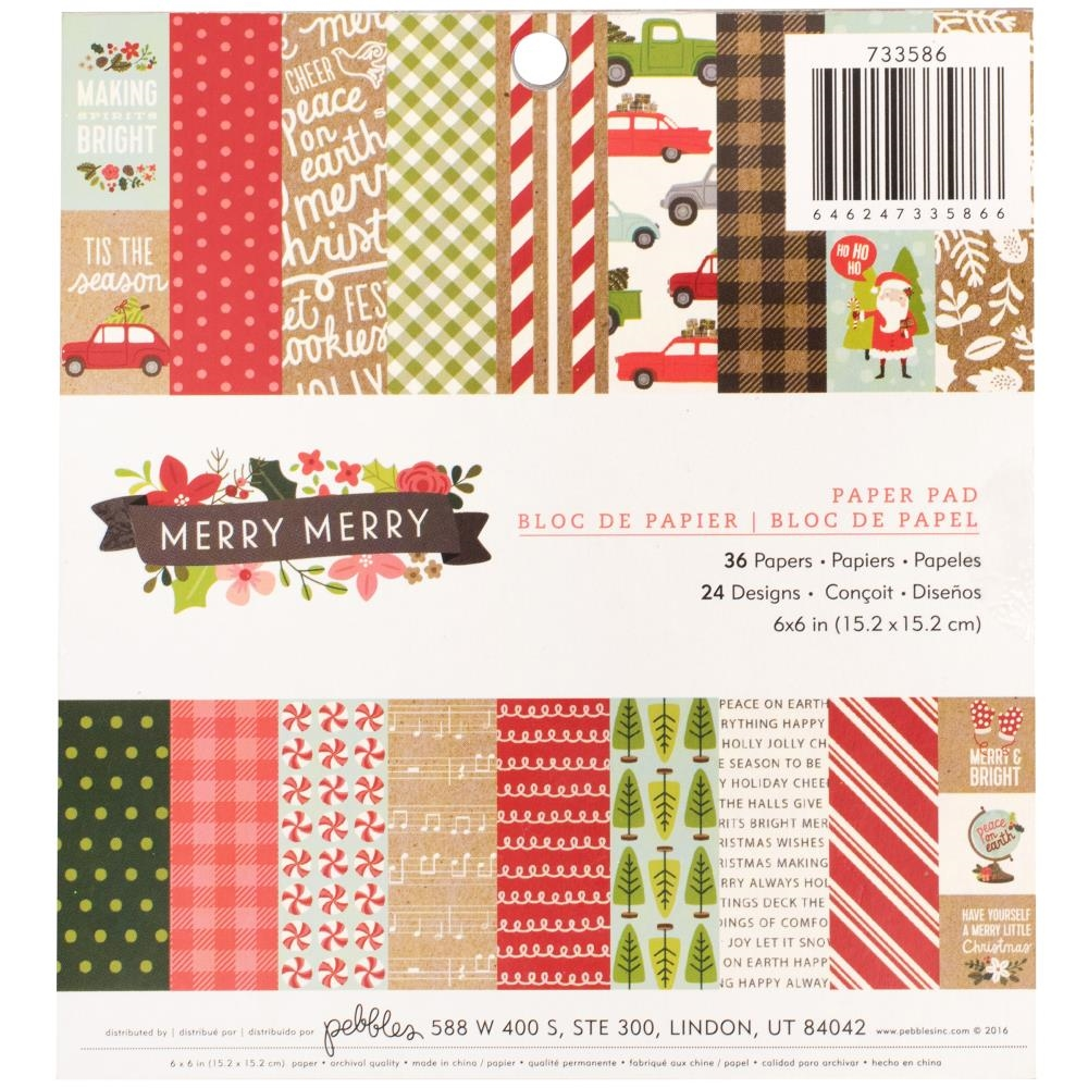 Pebbles Inc. MERRY MERRY 6x6 Inch Paper Pad 733586 zoom image