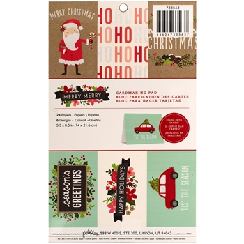 Pebbles Inc. MERRY MERRY Holiday Cardmaking Pad 733563