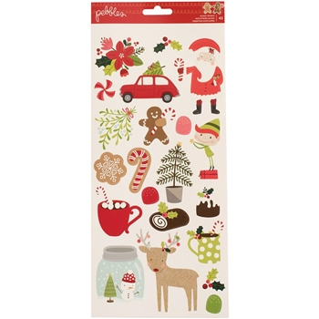 Pebbles Inc. MERRY MERRY Cardstock Stickers 733559
