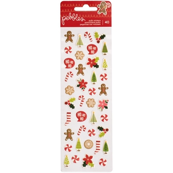 Pebbles Inc. MINI ACCENTS Puffy Stickers Merry Merry 733562