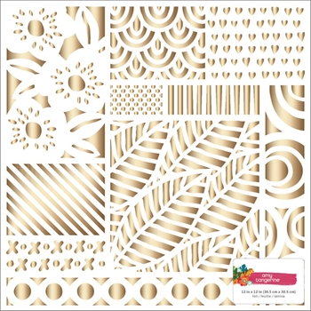 American Crafts Amy Tangerine HEART GOLD FOIL 12x12 Inch Specialty Cardstock Hustle and Heart 341881
