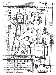 Tim Holtz Rubber Stamp VOGUE COLLAGE P4-1299 Stampers Anonymous