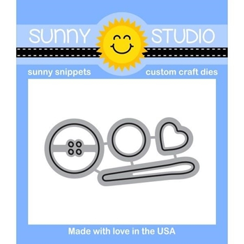 Sunny Studio CUTE AS A BUTTON Snippets Die SunnySS-063