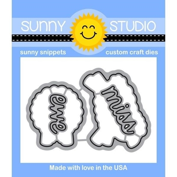 Sunny Studio MISSING EWE Snippets Die SunnySS-065