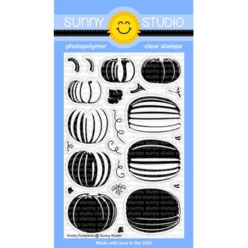 Sunny Studio PRETTY PUMPKINS Clear Stamp Set SSCL-166