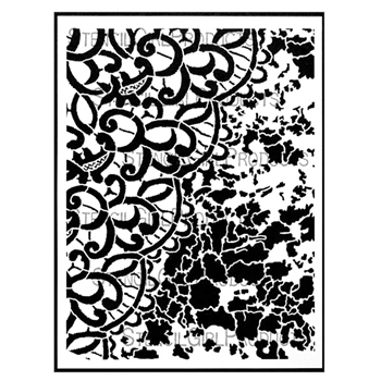 StencilGirl LACE AND PATINA 9x12 Stencil L547