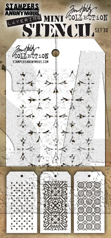 Tim Holtz MINI STENCIL SET 30 MST030 zoom image
