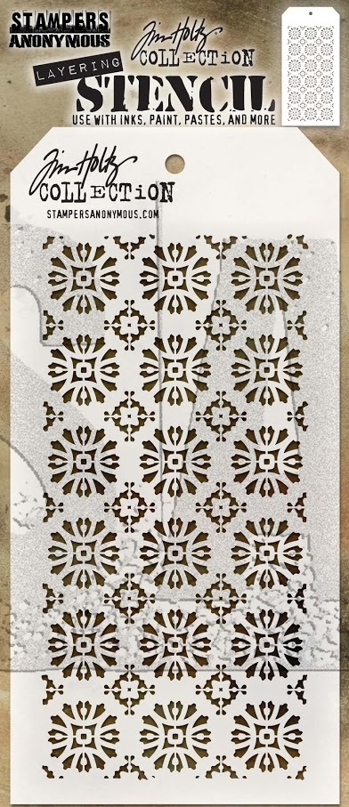 Tim Holtz Layering Stencil ROSETTE THS092 zoom image