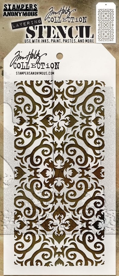 Tim Holtz Layering Stencil FLAMES THS091 zoom image