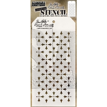 Tim Holtz Layering Stencil CROSSED THS090