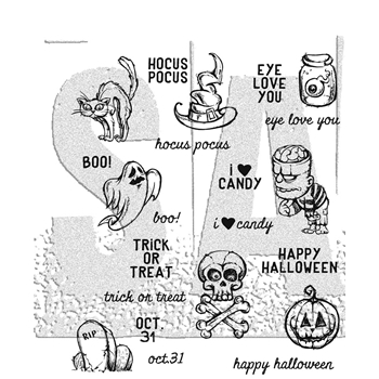 Tim Holtz Cling Rubber Stamps 2017 SCARED SILLY CMS311