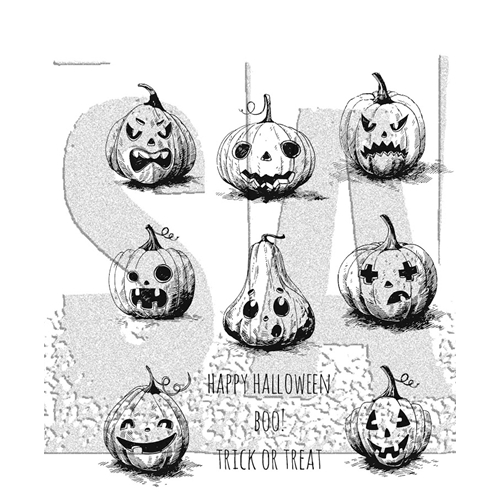 Tim Holtz Cling Rubber Stamps PUMPKINHEAD CMS309 Preview Image