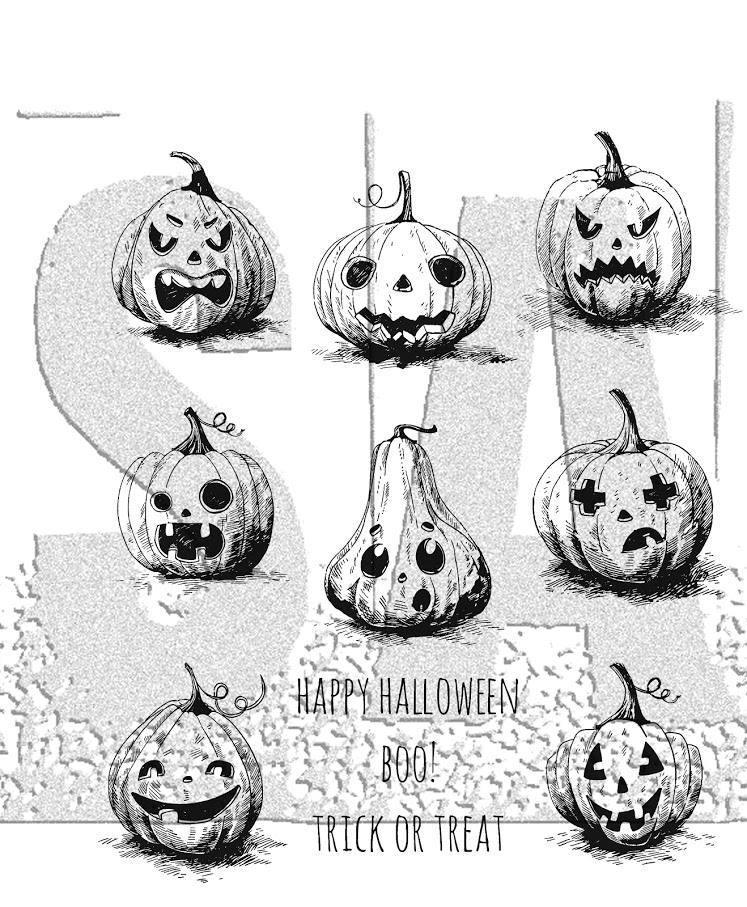 Tim Holtz Cling Rubber Stamps PUMPKINHEAD CMS309 zoom image