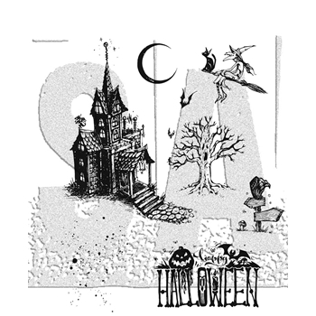 RESERVE Tim Holtz Cling Rubber Stamps 2017 HAUNTED HOUSE CMS308