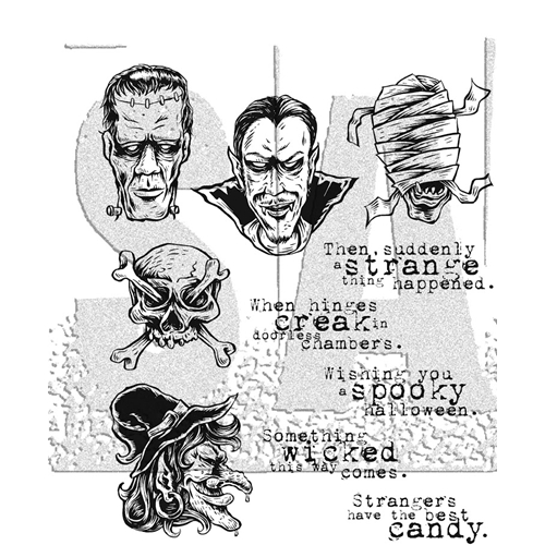 Tim Holtz Cling Rubber Stamps 2017 MONSTROUS CMS307 Preview Image
