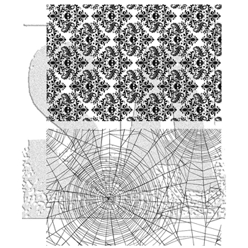 Tim Holtz Cling Rubber Stamps 2017 SKULLS AND COBWEBS CMS306