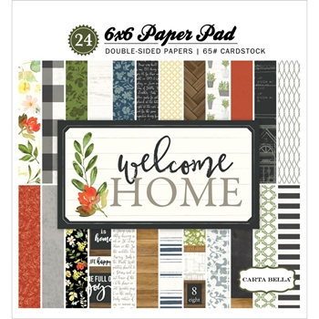 Carta Bella WELCOME HOME 6 x 6 Paper Pad CBWHO74015
