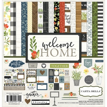 Carta Bella WELCOME HOME 12 x 12 Collection Kit CBWHO74016
