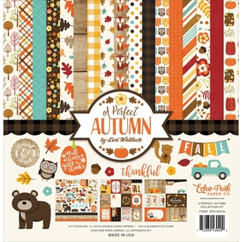 Echo Park A PERFECT AUTUMN 12 x 12 Collection Kit APA132016