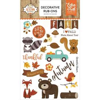 Echo Park A PERFECT AUTUMN Decorative Rub-ons APA132065
