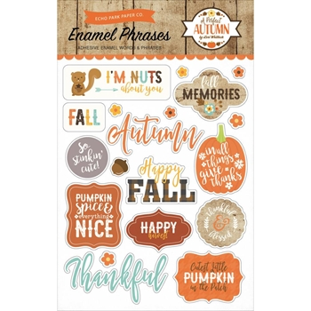Echo Park A PERFECT AUTUMN Enamel Words & Phrases APA132062